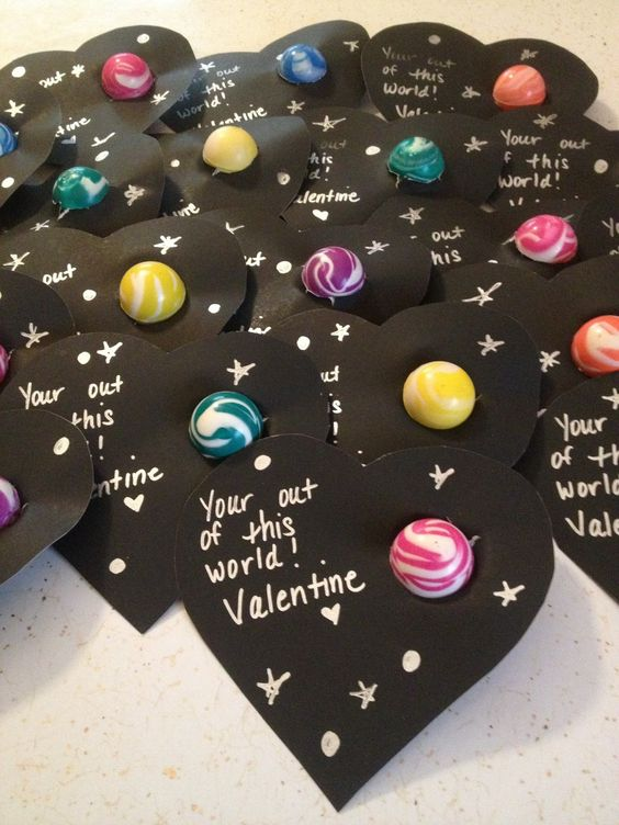 Out of This World Valentine Card.