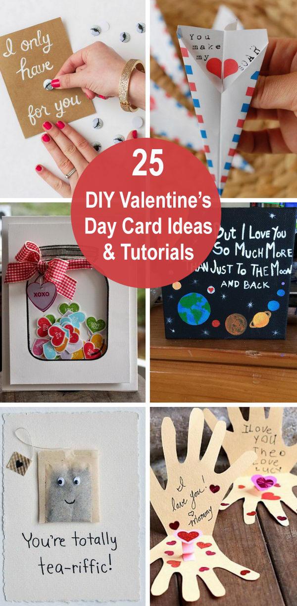 25 DIY Valentine's Day Card Ideas & Tutorials.