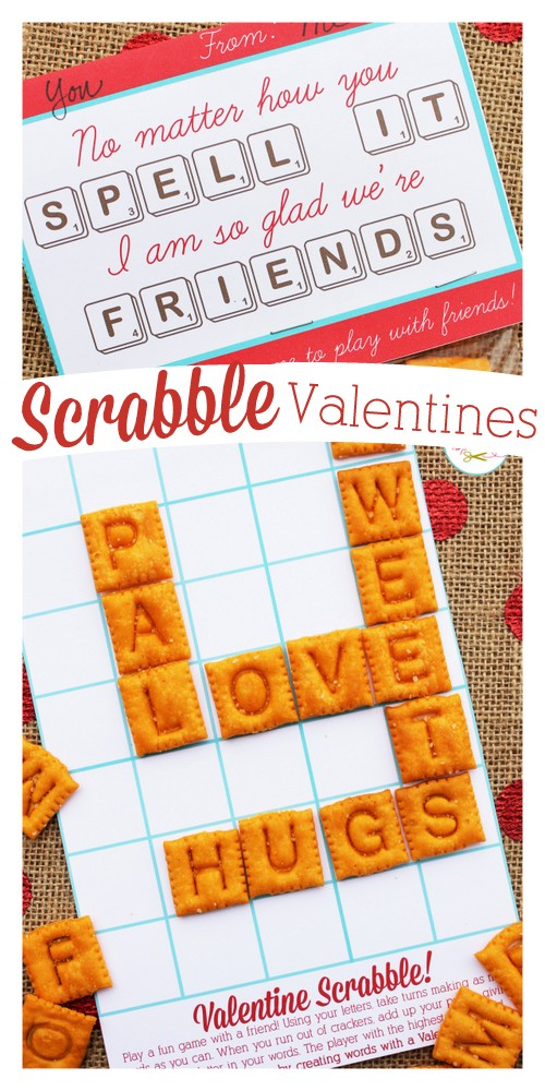 Edible Valentine's Day Scrabble Game Board.