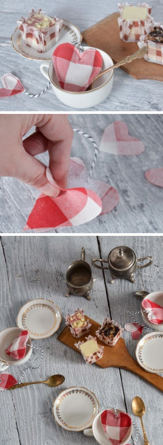 DIY Valentine Toy Teabags.