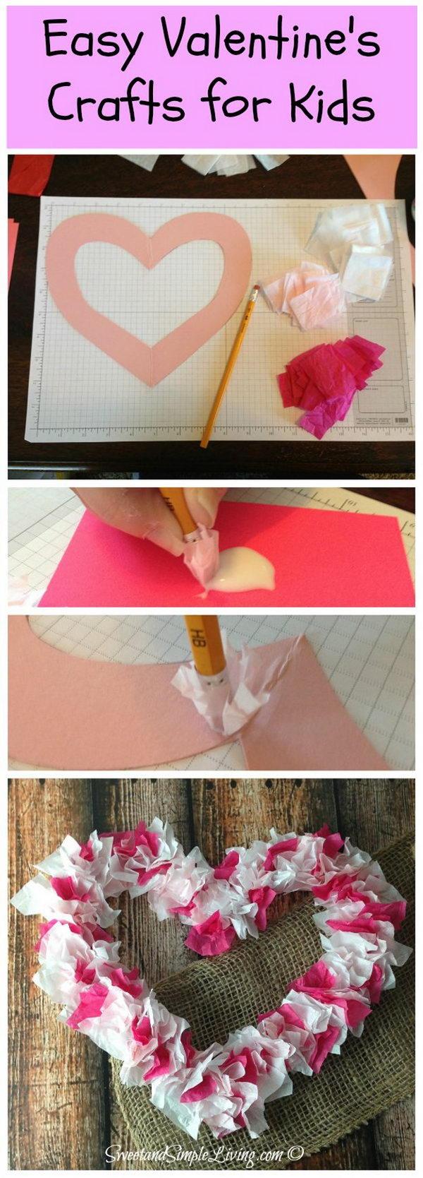 Tissue Paper Heart.