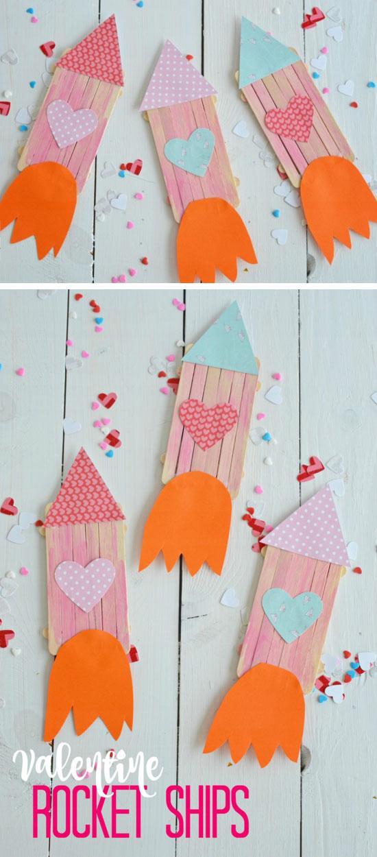 Valentine Popsicle Rocket Ships.