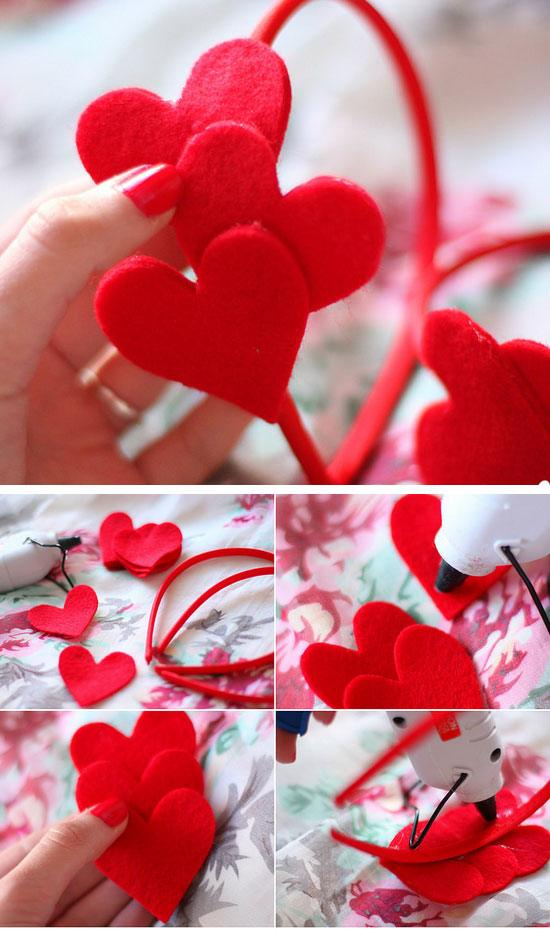 DIY Felt Heart Headband.