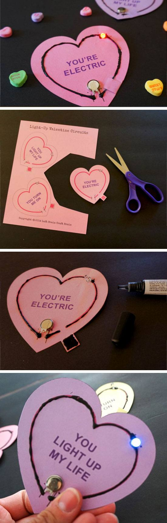 Light Circuit Valentines Cards.