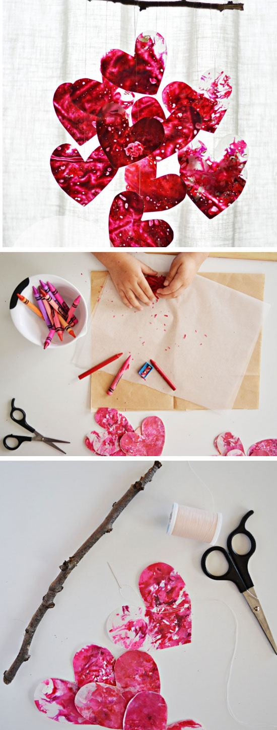 DIY Heart Mobile.