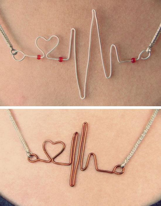 Easy Heartbeat Necklace.
