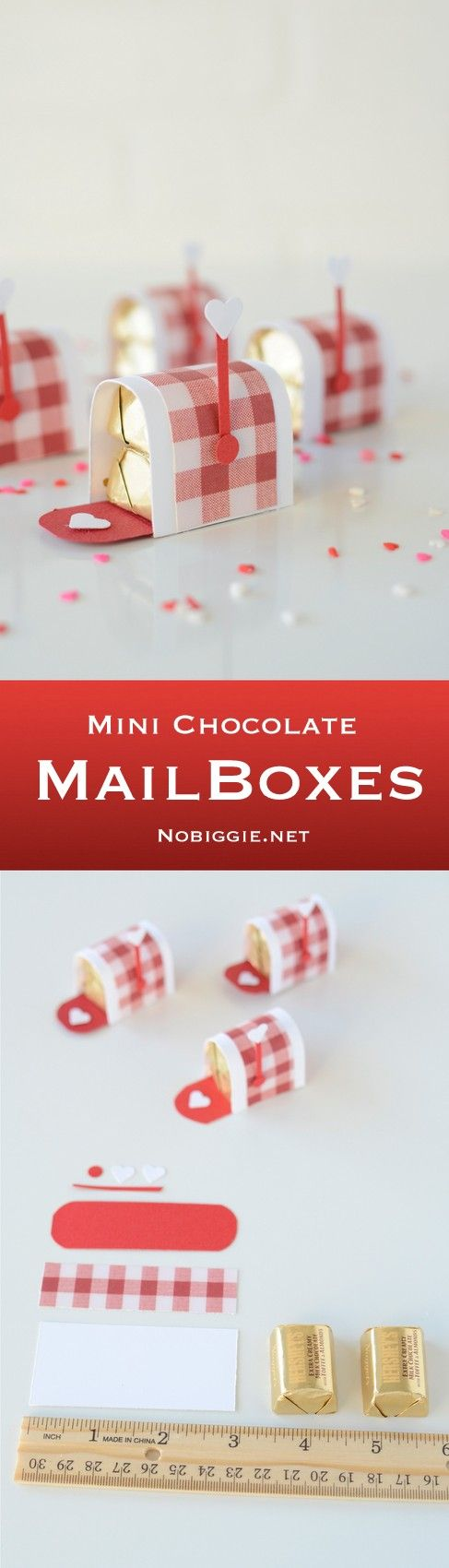 DIY Mini Chocolate Mailboxes.