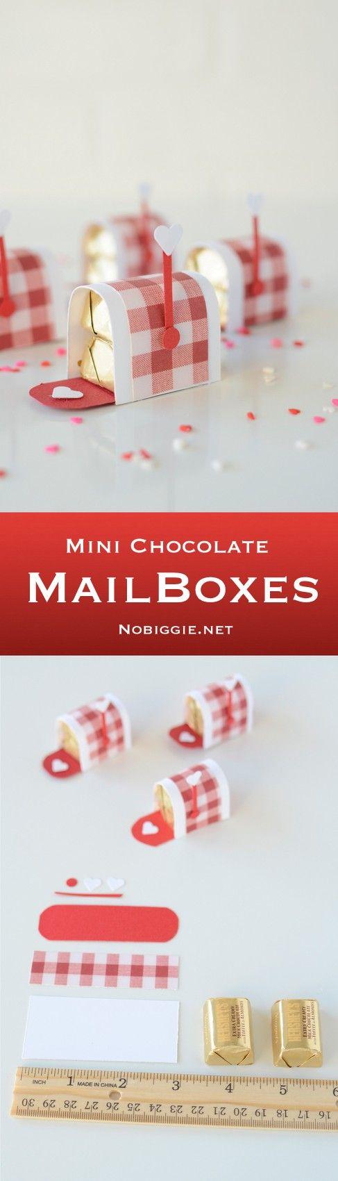 DIY Mini Chocolate Mailboxes.
