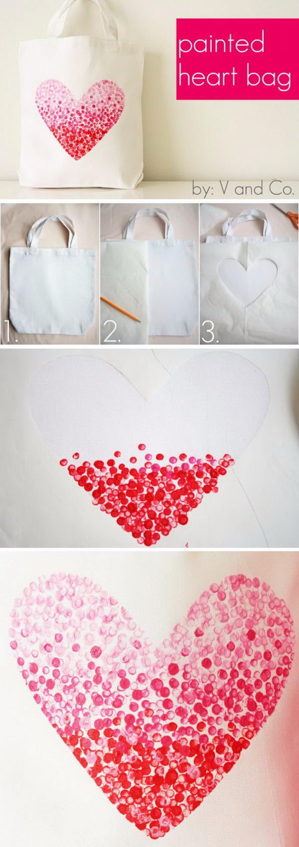 Painted Heart Bag.
