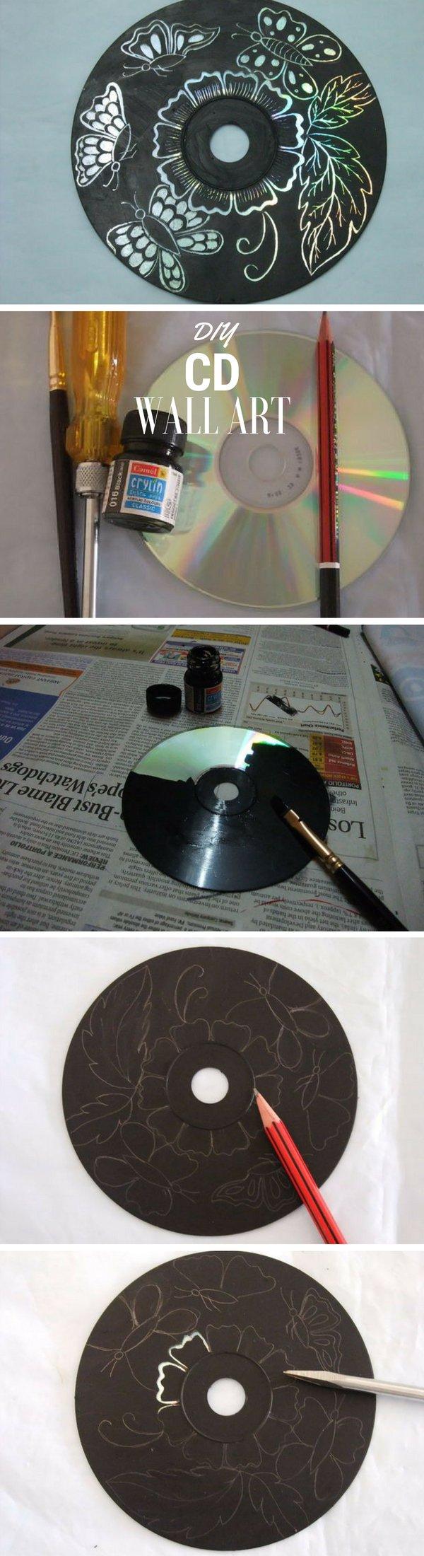 DIY CD Wall Art.