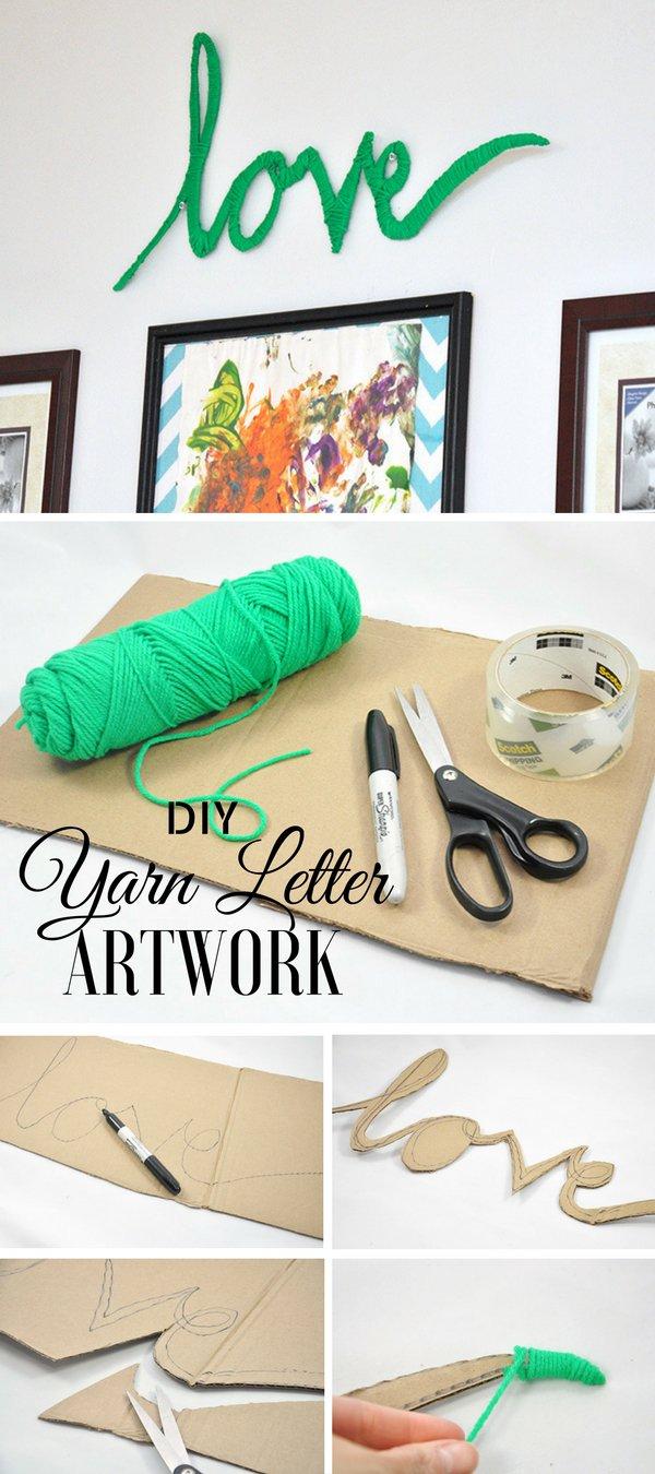 Yarn Letter Art.
