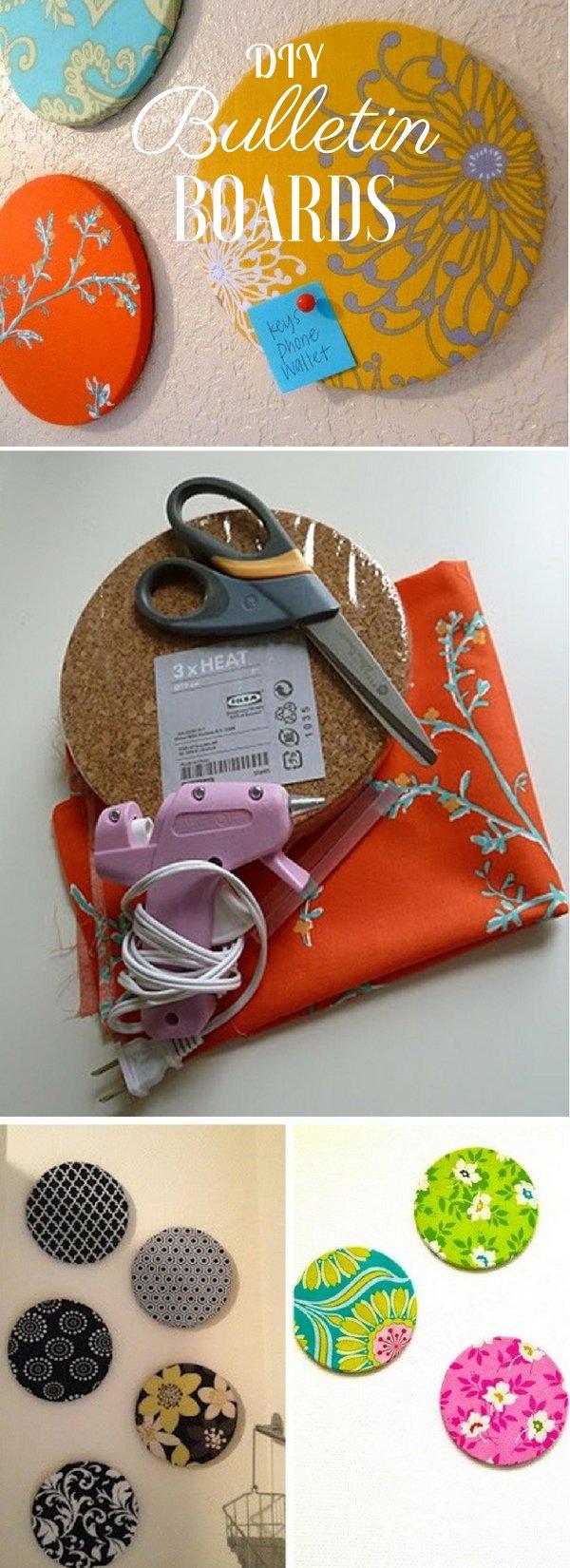 Fabric Bulletin Boards.