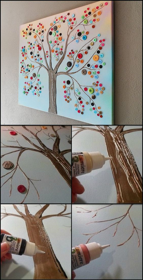 Button Tree Wall Art.