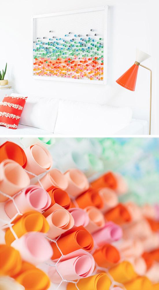 DIY Paper Wall Art.