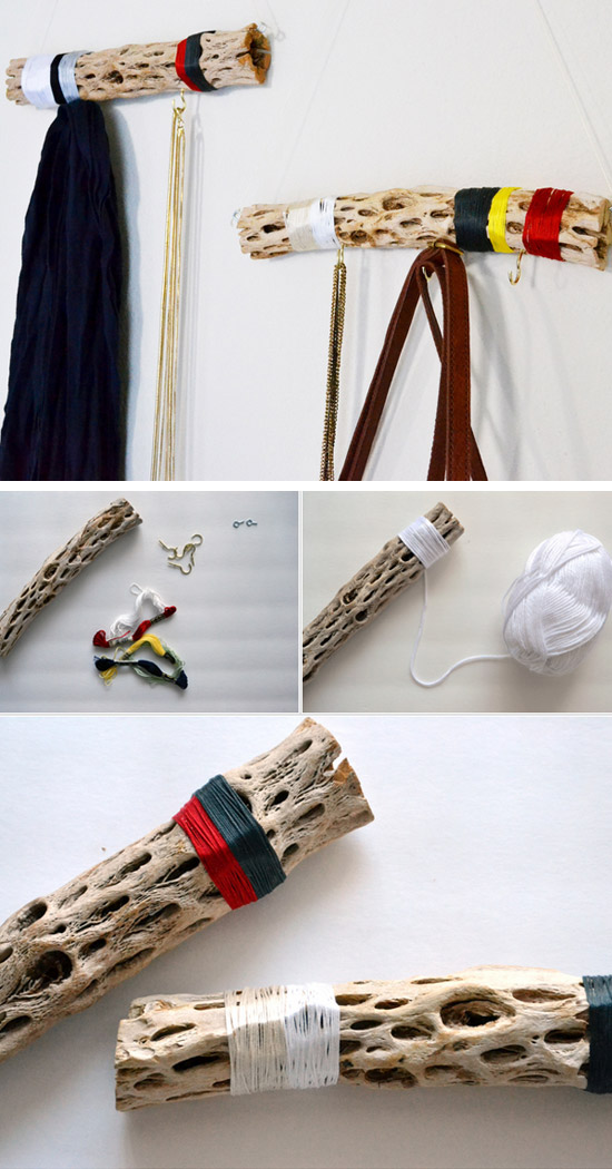 Make a Funky Wall Hanger from Driftwood.