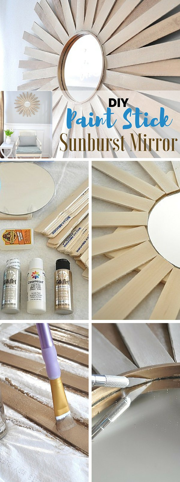 Paint Stick Starburst Mirror.