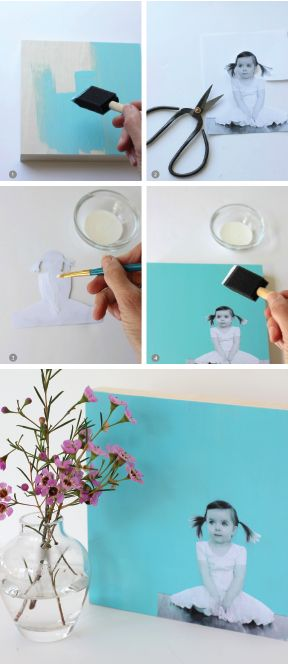 Mount a Photo to Wood and Create an Easy Modern Photo Wall Art.