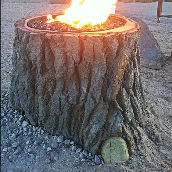 Tree Stump Fire Pit.