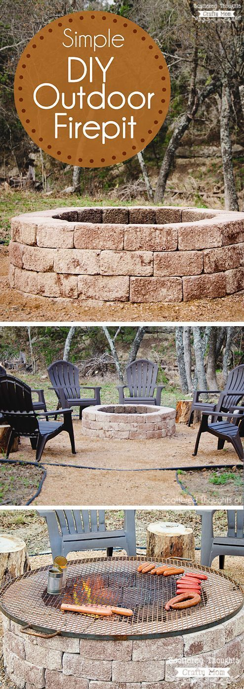 Fun and Easy DIY Outdoor Fire Pit.