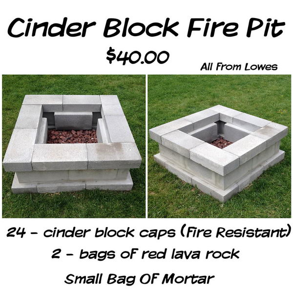 Easy $40 Cinderblock DIY Firepit.
