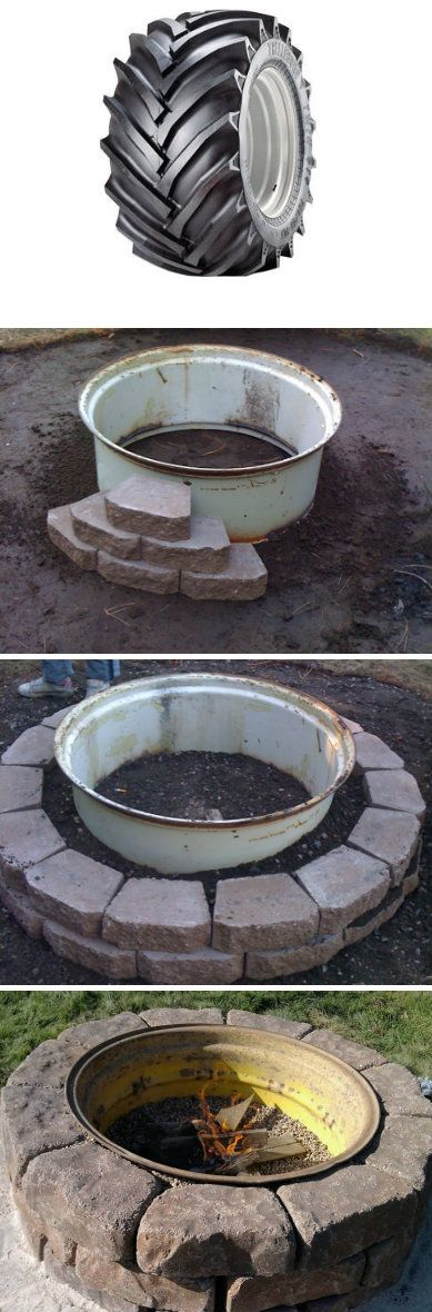 Tractor Wheel Fire Pit.