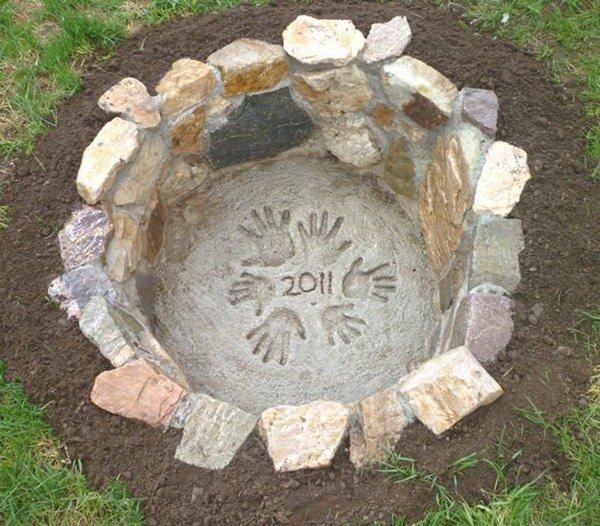 Cute Stone Fire Pit.