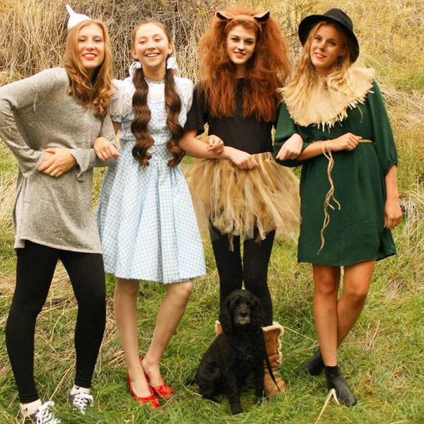 cute wizard of oz group costumes for girl friends