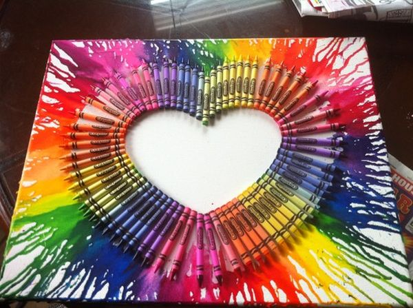 50 Amazing Melted Crayon Art Ideas 2018