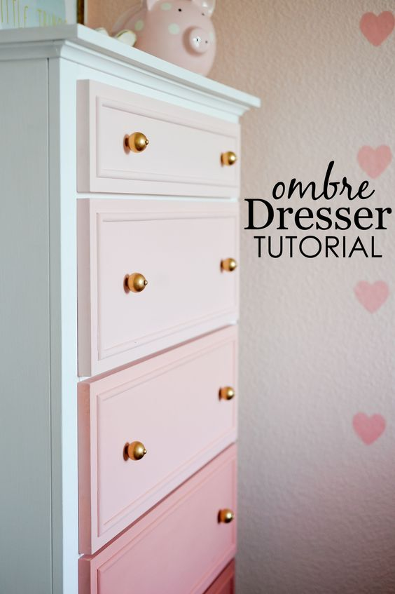 Transforme Your Old Dresser Into a Masterpiece DIY Ombre Dresser.