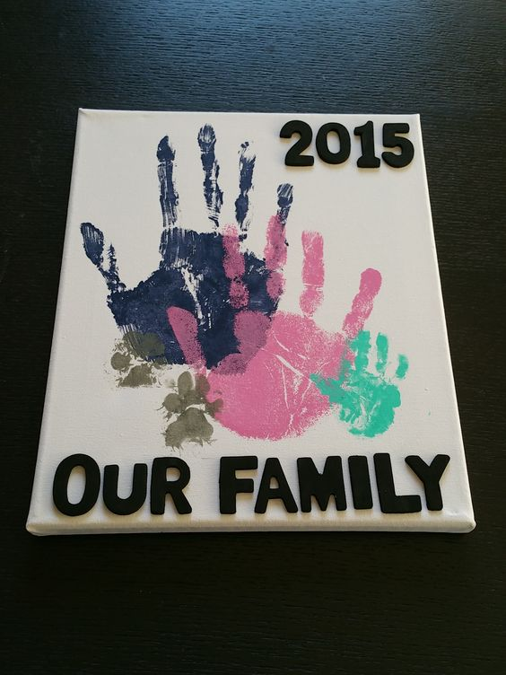 Family Handprints on Canvas.