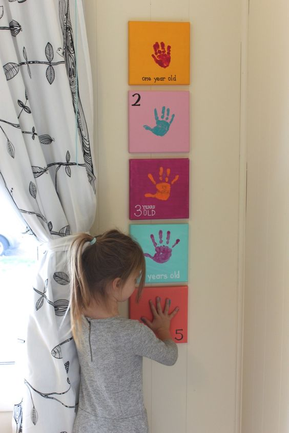 Yearly Handprint Canvas.