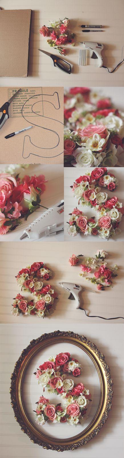 DIY Floral Letter.