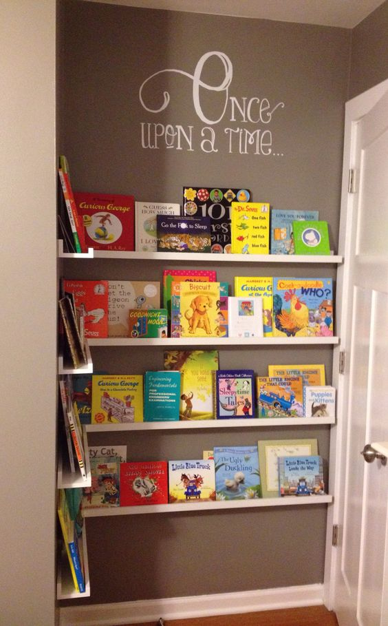 Add DIY Space-Saver Bookshelf Behind The Door.