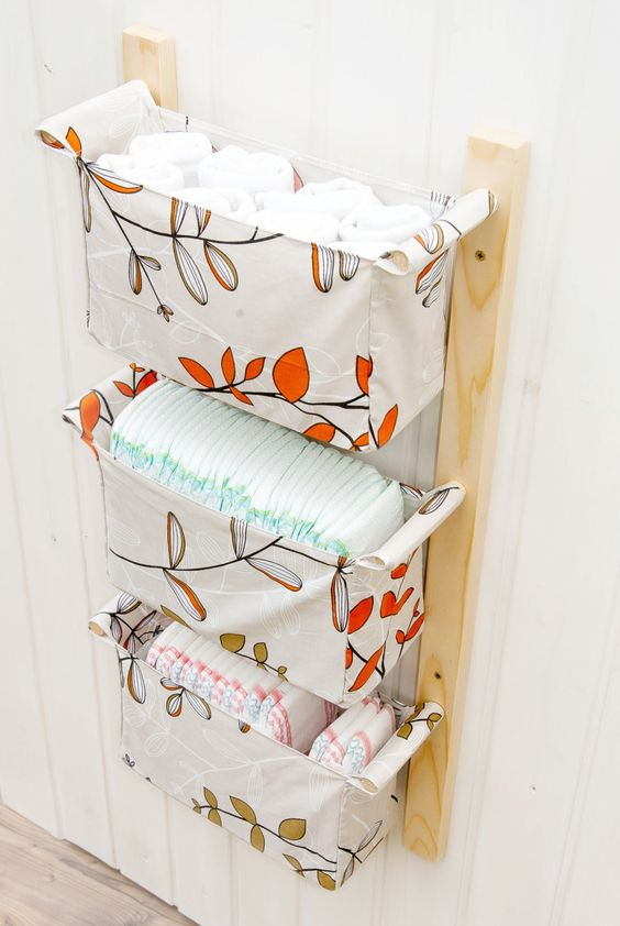 Wall Hanging Storage with 3 Baskets.