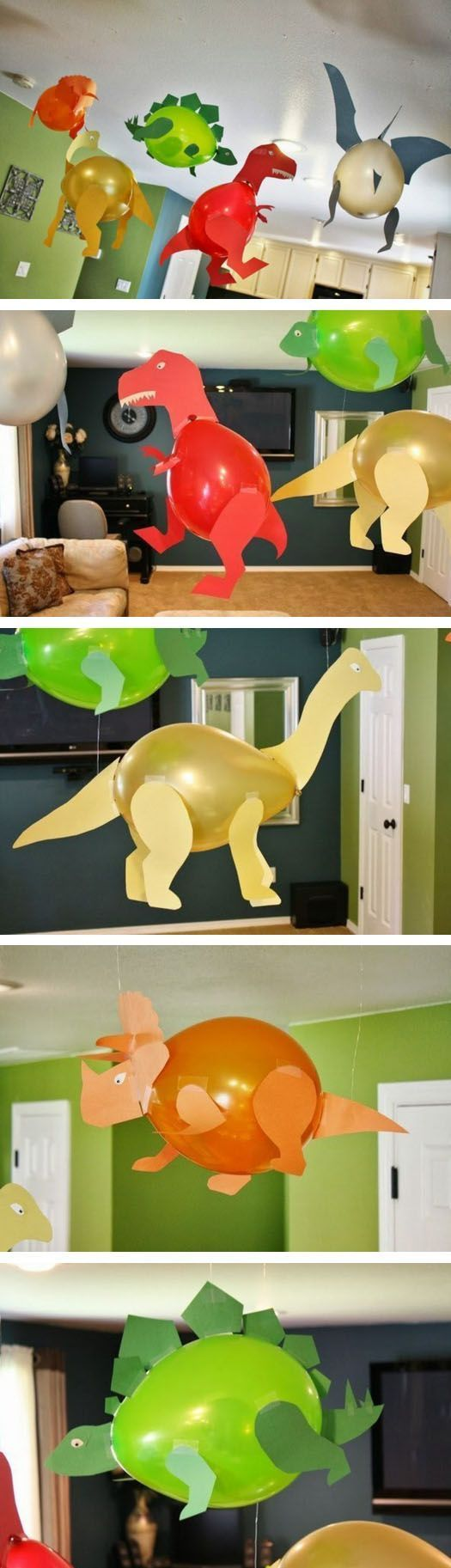 Dinosaur Balloons for Kids' Party Decoration.