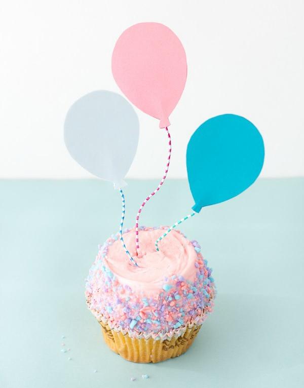 DIY Balloon Cupcake Toppers.