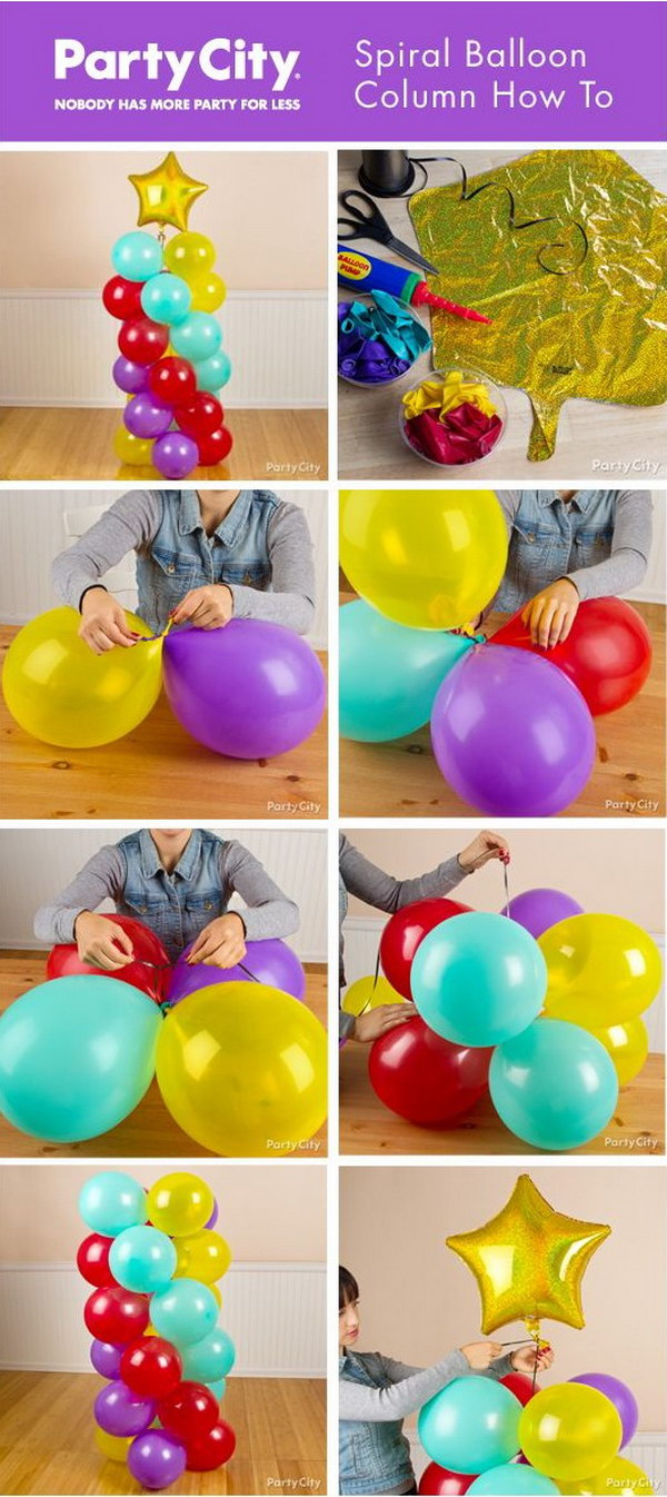 Spiral Balloon Columns.
