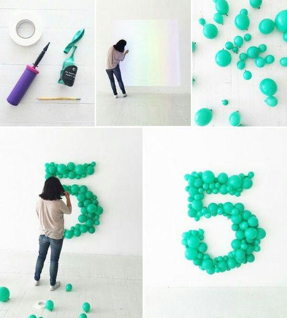 DIY Giant Balloon Number.