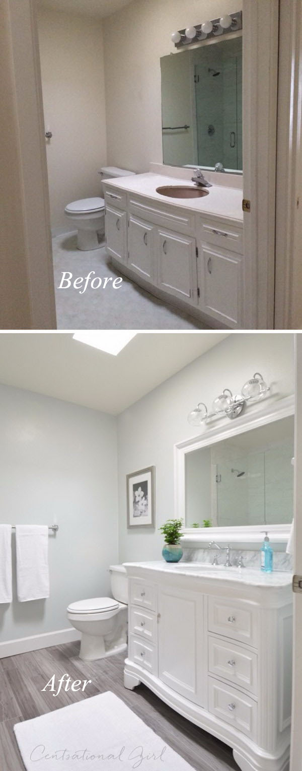 Before And After Dramatic Bathroom Makeovers - Modern bathroom makeovers