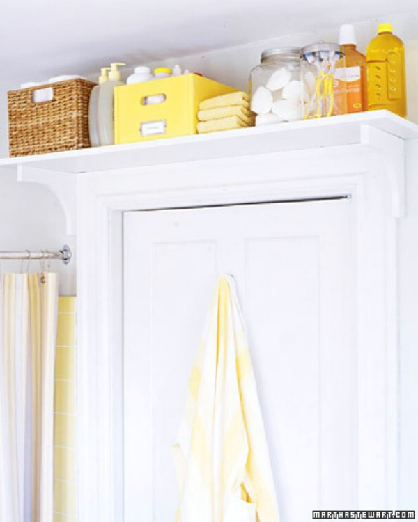 Put A Shelf Above The Door For Extra Storage