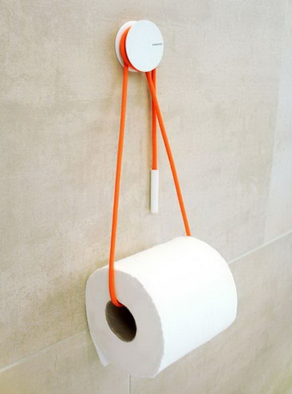 What A Simple Idea To Use A Rope To Hold The Toilet Paper Roll