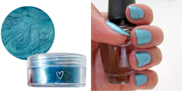 Use Eye Shadow and Clear Nail Polish to Create Your Own Nail Polish Color.
