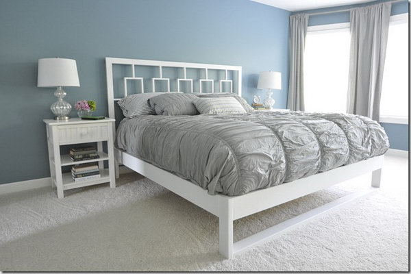 Simple White Bed Frame. See the instructions