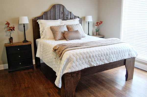 Statement Bed Frame with Fantastic Front Legs. See how