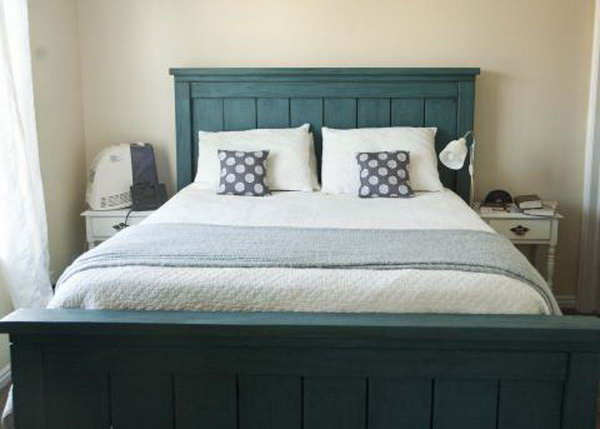Farmhouse Bed Frame. See the tutorial