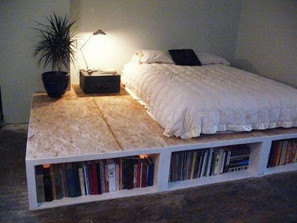 DIY Platform Bed With Storage. Get the tutorial