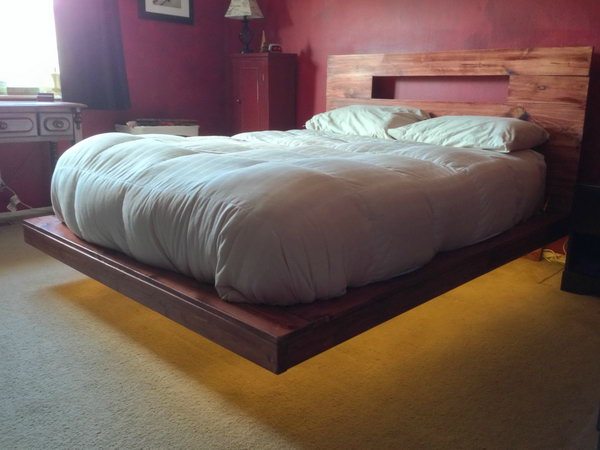 Floating Bed with the Lights Underneath. See the directions