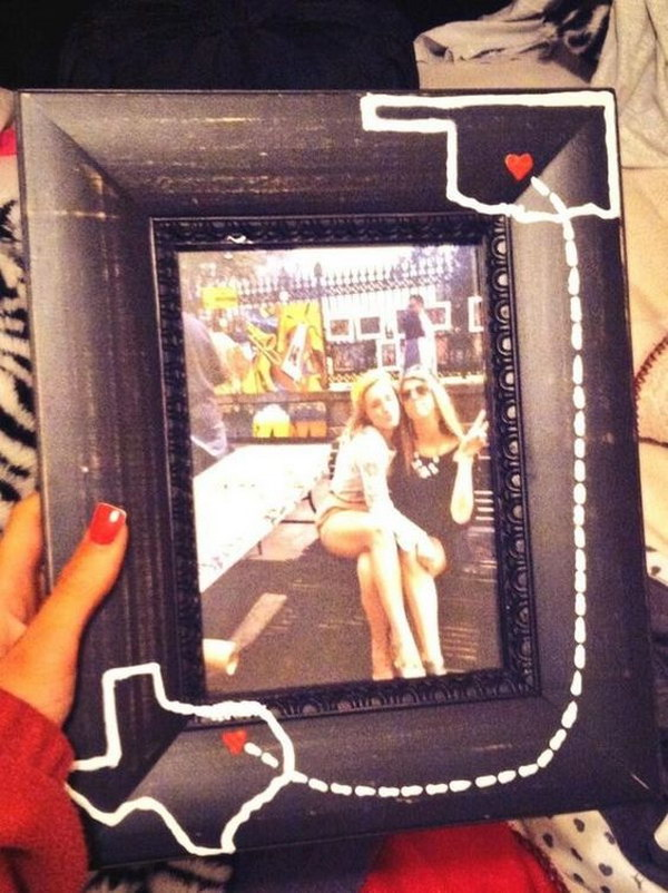 Home State DIY Picture Frame.
