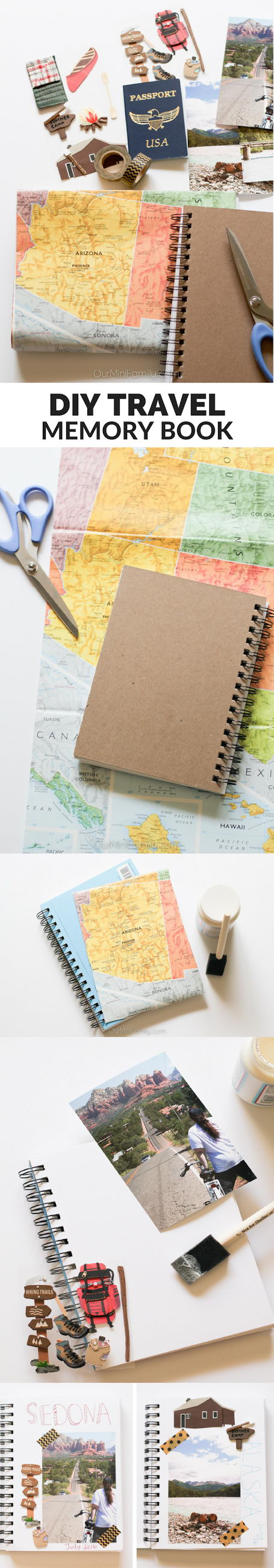 Easy DIY Travel Memory Book for Documenting All of Your Adventures.