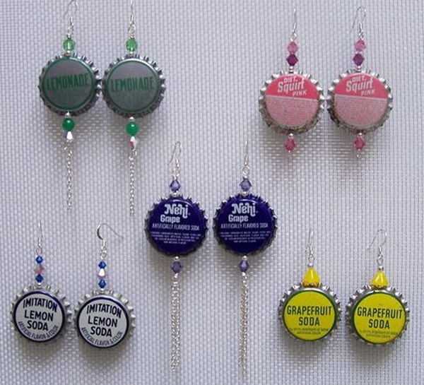 Bottle Cap Earrings. You can't go wrong with this stylish pair of bottle cap earrings. See the tutorial
